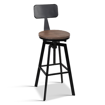 Rustic Industrial Metal Bar Stools - Free Shipping