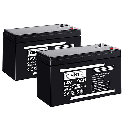 2X 12V 9Ah SLA Battery AGM Rechargeable Sealed Lead Acid Batteries