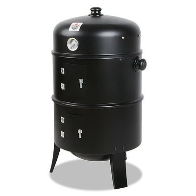 3-in-1 Charcoal BBQ Smoker - Free Shipping