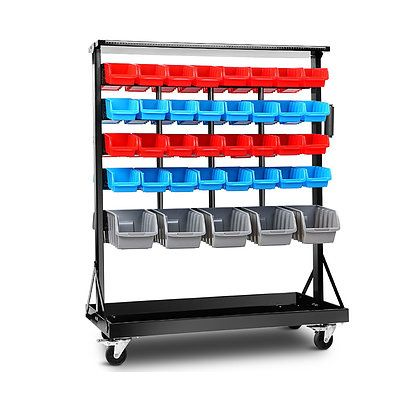 74 Bin Dual-Sided Storage Shelving Rack Organiser - Free Shipping