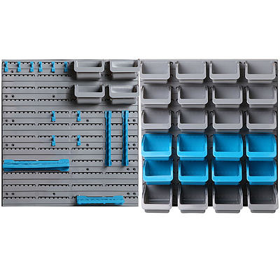 44 Bin Wall Mounted Rack Storage Organiser - Free Shipping