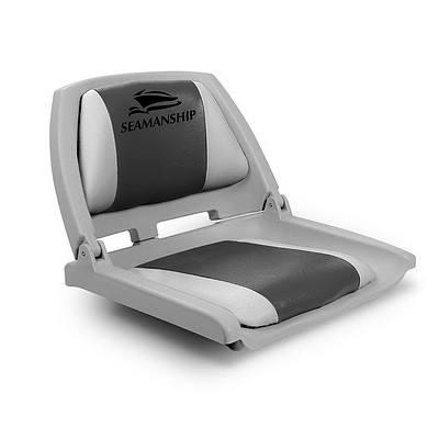 Swivel Folding Marine Boat Seat Grey Charcoal - Brand New - Free Shipping