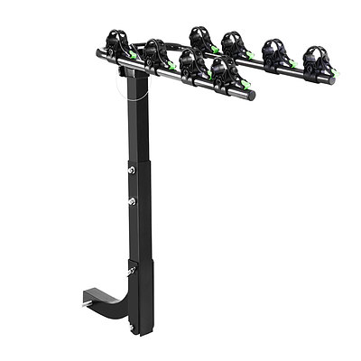 """Bike Carrier 4 Bicycle Car Rear Rack Hitch Mount 2"""" Towbar Foldable Steel - Brand New - Free Shipping"""