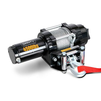 12V Wireless Electric Winch Remote with Steel Cable - Free Shipping