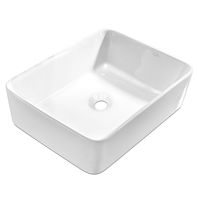 Ceramic Rectangle Sink Bowl - White - Free Shipping