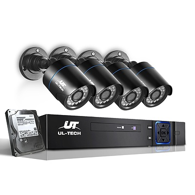 CCTV Security System 2TB 4CH DVR 1080P 4 Camera Sets - Brand New - Free Shipping