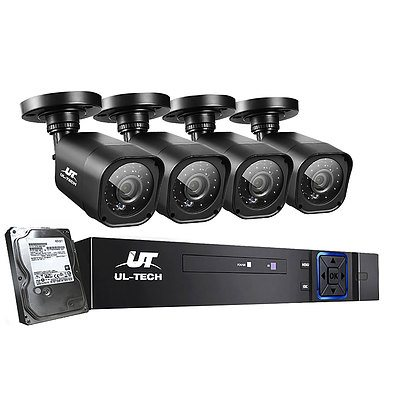 Home CCTV Security System Camera 4CH DVR 1080P 1500TVL 1TB Outdoor Home - Brand New - Free Shipping