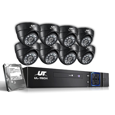 CCTV Security System 2TB 8CH DVR 1080P 8 Camera Sets - Brand New - Free Shipping
