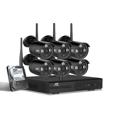 CCTV Wireless Security System 2TB 8CH NVR 1080P 6 Camera Sets - Brand New - Free Shipping
