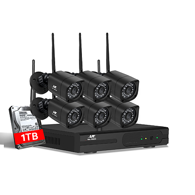 CCTV Wireless Security Camera System 8CH Home Outdoor WIFI 6 Square Cameras Kit 1TB - Brand New - Free Shipping