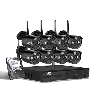 CCTV Wireless Security Camera System 8CH Home Outdoor WIFI 8 Bullet Cameras Kit 1TB - Brand New - Free Shipping