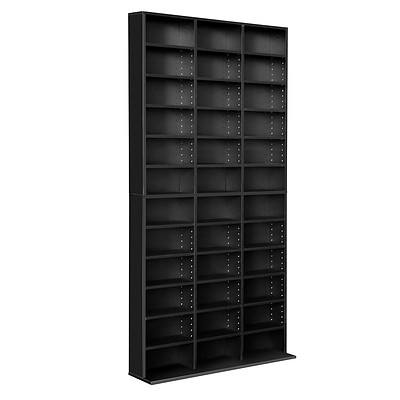 Adjustable CD DVD Book Storage Shelf Black - Brand New - Free Shipping