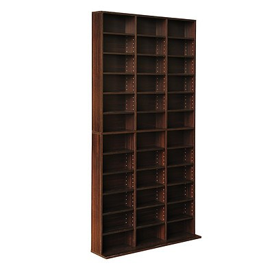 1116 CD Storage Shelf Rack Unit - Expresso - Free Shipping
