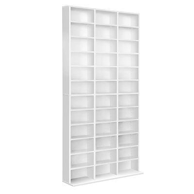 1116 CD Storage Shelf Rack Unit - White - Free Shipping