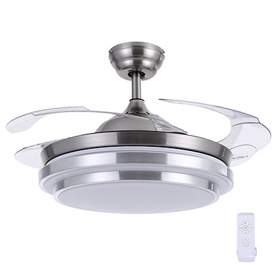 42'' Ceiling Fan Light With Remote Control Fans Lamp Modern Retractable Blade - Brand New - Free Shipping