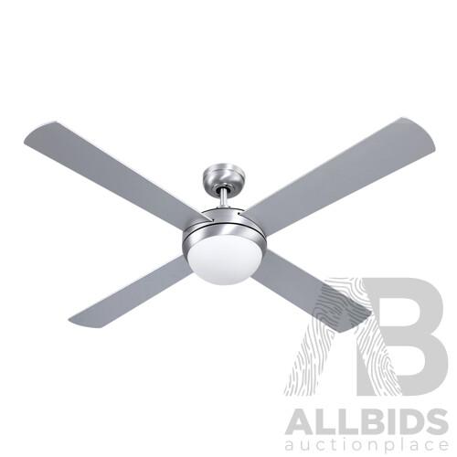 52 Ceiling Fan with Light Silver