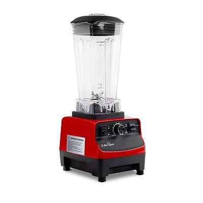 Commercial Food Processor Blender - Red - Free Shipping