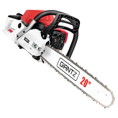62CC Commercial Petrol Chainsaw - Red & White - Free Shipping