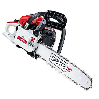 45CC Petrol Commercial Chainsaw Chain Saw Bar E-Start Pruning