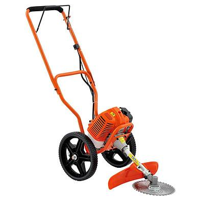 3 in 1 Wheeled Brush Cutter Trimmer Snipper - Orange - Free Shipping