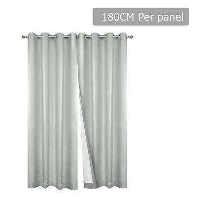 2 Panel 180 x 230cm Eyelet Blockout Curtains - Ecru