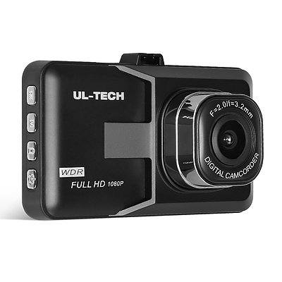 UL Tech 3 Inch Screen Dash Cam - Black - Free Shipping