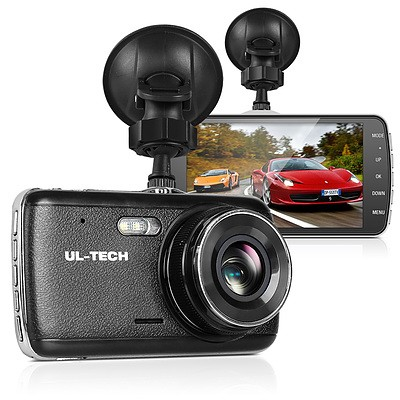4 Inch Dual Camera Dash Camera - Black - Brand New - Free Shipping