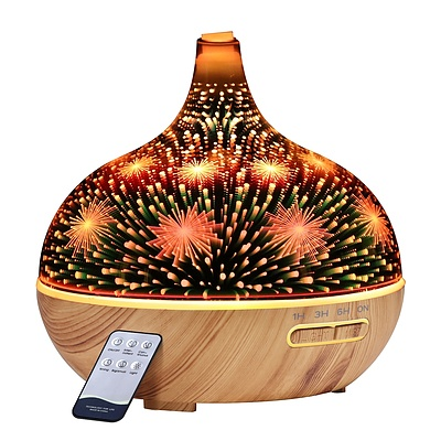 Aroma Aromatherapy Diffuser 3D LED Night Light Firework Air Humidifier Purifier 400ml Remote Control - Brand New - Free Shipping