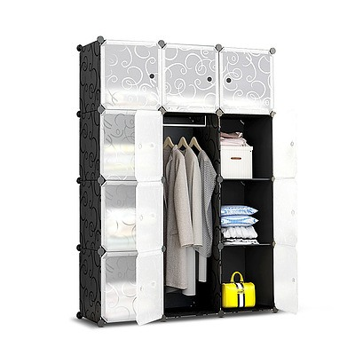 12 Cube Portable Storage Cabinet Wardrobe - Black - Brand New - Free Shipping