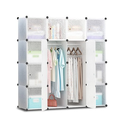 16 Cube Portable Storage Cabinet Wardrobe - White - Brand New - Free Shipping
