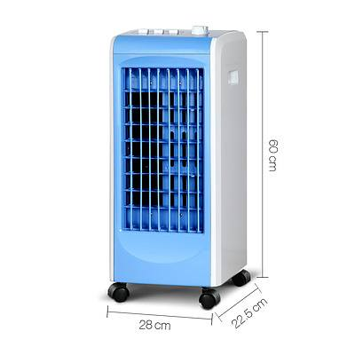 Portable Air Cooler and Humidifier Conditioner - White & Blue - Free Shipping
