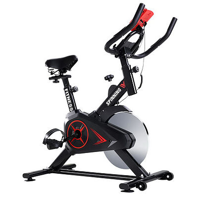 Spin Exercise Bike Flywheel Fitness Commercial Home Workout Gym Phone Holder Black - Brand New - Free Shipping