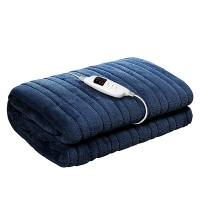 Electric Throw Blanket Navy - Free Shipping
