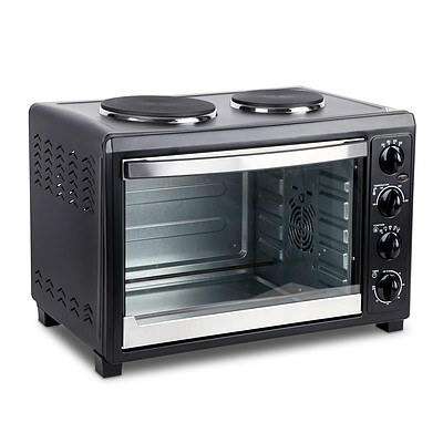 45L Convection Oven with Hotplates - Black - Brand New - Free Shipping