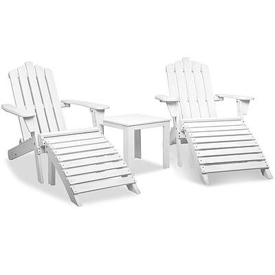 Adirondack Chairs & Side Table Set - Brand New - Free Shipping