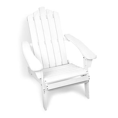 Adirondack Foldable Deck Chair - White - Brand New - Free Shipping