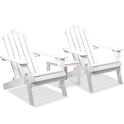 Adirondack Chairs & Side Table 3 Piece Set - Free Shipping