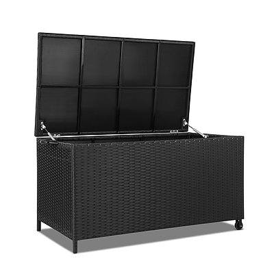 320L Outdoor Wicker Storage Box - Black - Brand New - Free Shipping