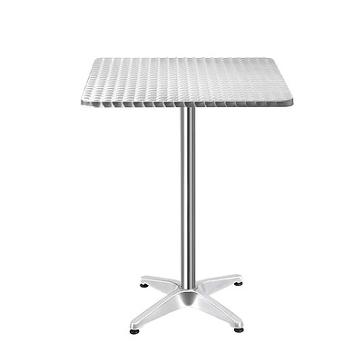 Aluminium Adjustable Square Bar Table - Silver - Brand New - Free Shipping
