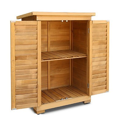 Portable Wooden Garden Storage Cabinet - Brand New - Free Shipping