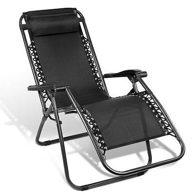 Outdoor Portable Recliner - Black - Brand New - Free Shipping