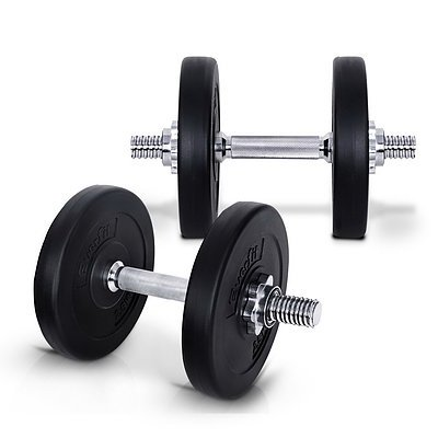Everfit 15KG Dumbbell Set Weight Dumbbells Plates Home Gym Fitness Exercise - Brand New - Free Shipping