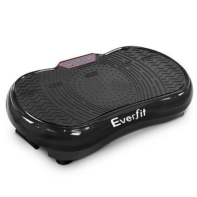 1000W Vibrating Plate with Roller Wheels - Black - Free Shipping