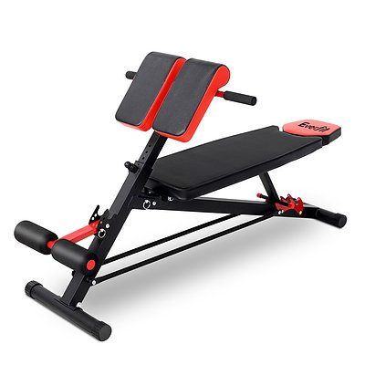 Everfit Adjustable Weight Bench Sit-up Fitness Flat Decline Home Gym Machine Steel Frame - Brand New - Free Shipping