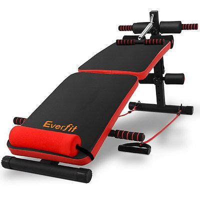 Everfit Adjustable Sit Up Bench Press Weight Gym Home Exercise Fitness Decline - Brand New - Free Shipping
