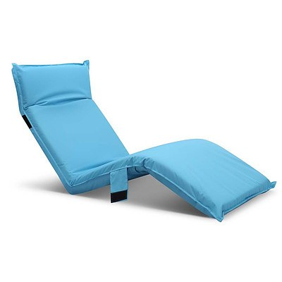 Adjustable Beach Sun Pool Lounger Blue - Brand New - Free Shipping