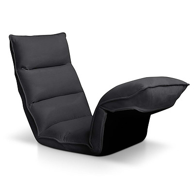 4 Adjustable Section Floor Lounge Chair- Charcoal - Free Shipping