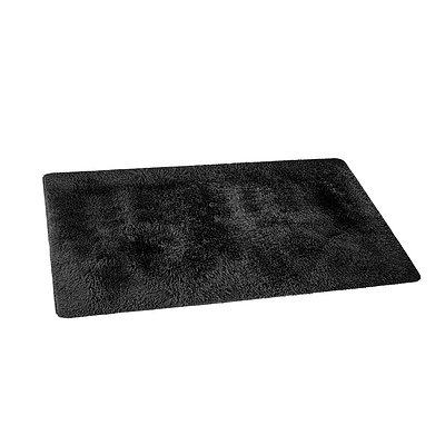 Ultra Soft Shaggy Rug 160x230cm Large Floor Carpet Anti-slip Area Rugs Black