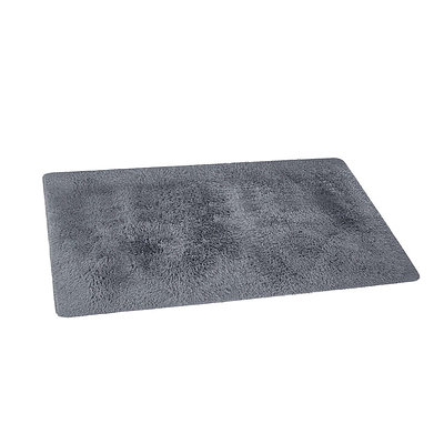 Ultra Soft Shaggy Rug 160x230cm Large Floor Carpet Anti-slip Area Rugs Grey - Brand New - Free Shipping