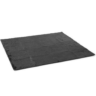 Artiss Ultra Soft Shaggy Rug Large 200x230cm Floor Carpet Anti-slip Area Rugs Black - Free Shipping